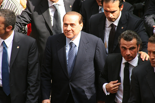 PM Berlusconi, licensed under Creative Commons from torre.elena