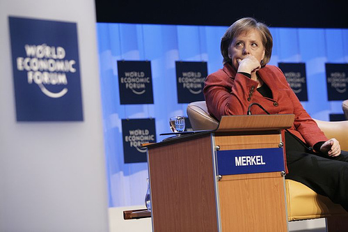 Image of Chancellor Merkel, licensed under Creative Commons from the World Economic Forum